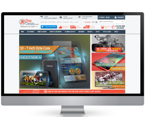 28-day-deals ecommerce website design portfolio
