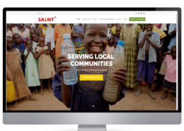 Saint UK charity website design company portfolio