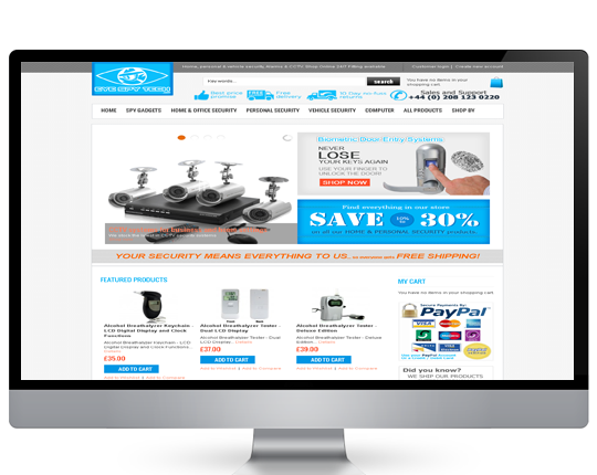 Eye Spy Tech Ecommerce Website