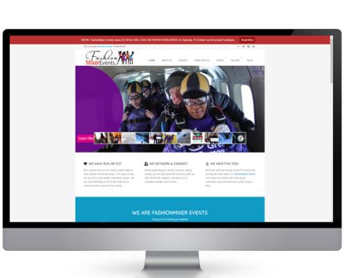 Fashion mixer events website design company uk