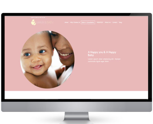 Mama n baby website design agency
